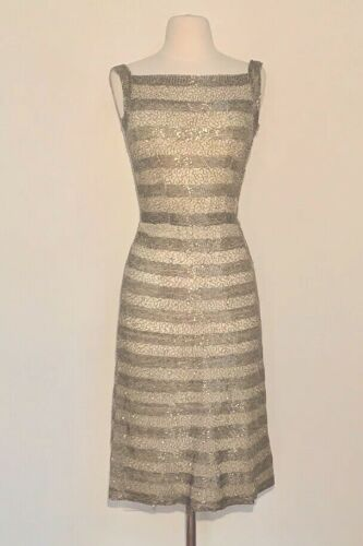 50's RARE SIR NORMAN HARTNELL COUTURE Dress! Queen