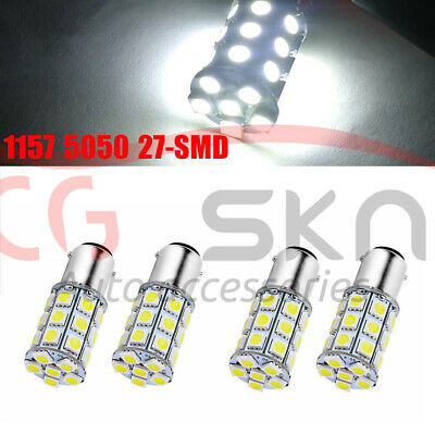 2x 6000K White 1157 BAY15D 80-SMD LED Light Bulbs Tail Brake Stop 1142 1154 12V