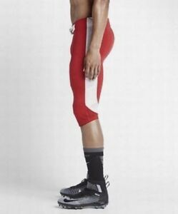 b4ab1a06bd0 Mens Nike 615745 Red White Football Open Field 3 4 Pants  70 XL NWT ...
