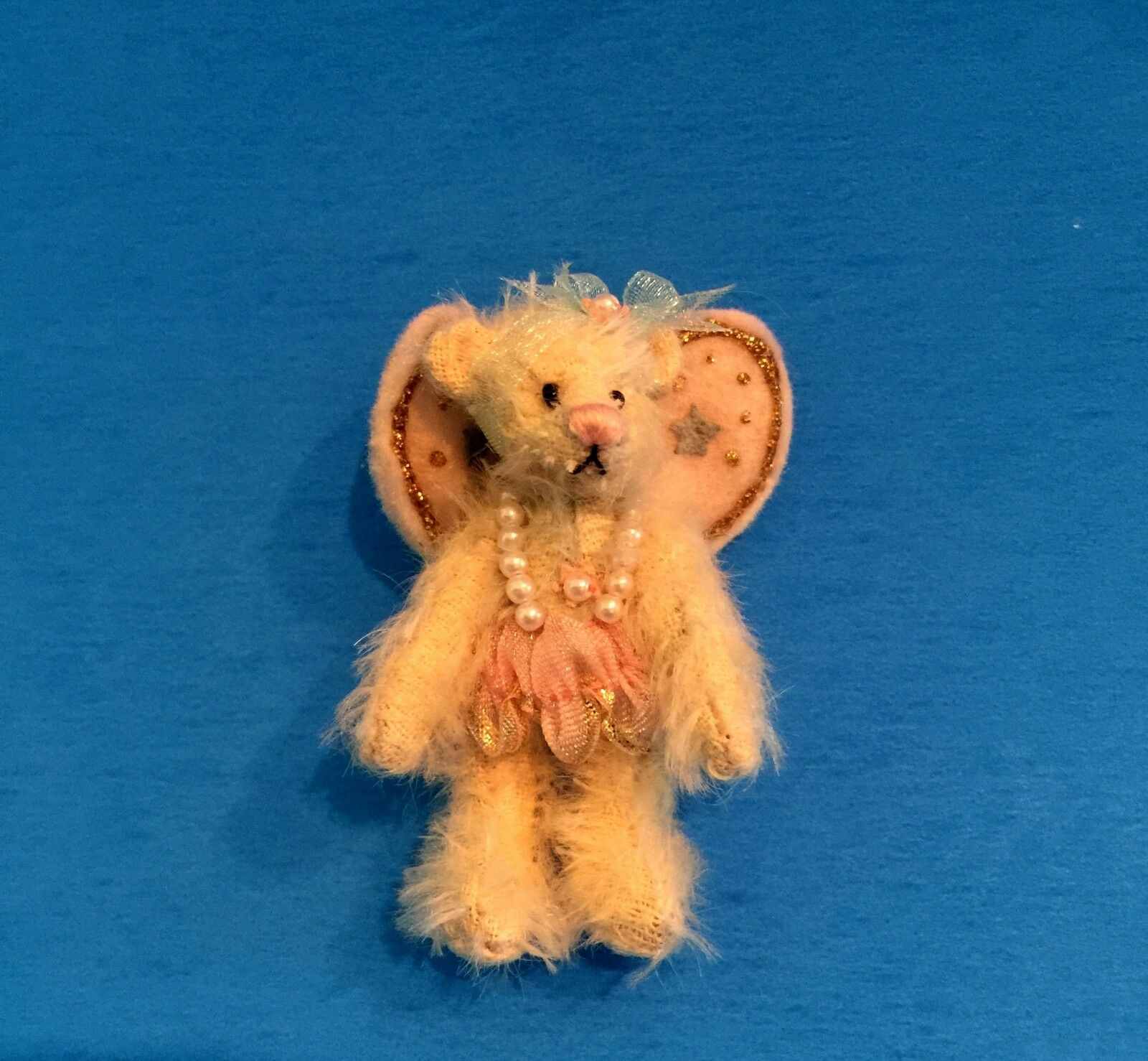 DEB CANHAM   TINKERBELL   FROM PETER PAN SERIES-bianca  MOHAIR BEAR WITH WINGS