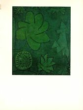 """1967 Vintage PAUL KLEE /""""ROCK FLORA/"""" FABULOUS MODERN COLOR offset Lithograph"""