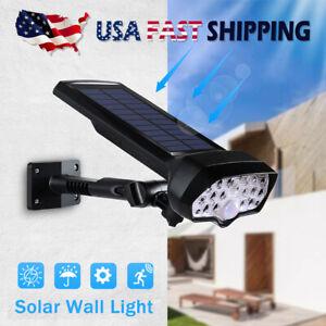 Al-aire-libre-del-LED-Luces-Solares-Lamparas-De-Pared-Sensor-De-Movimiento-Infrarrojo-Pasivo