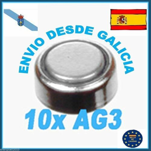 10 PILAS BOTÓN ★ AG3 ★ LR41 SR736SW Cell Button Battery