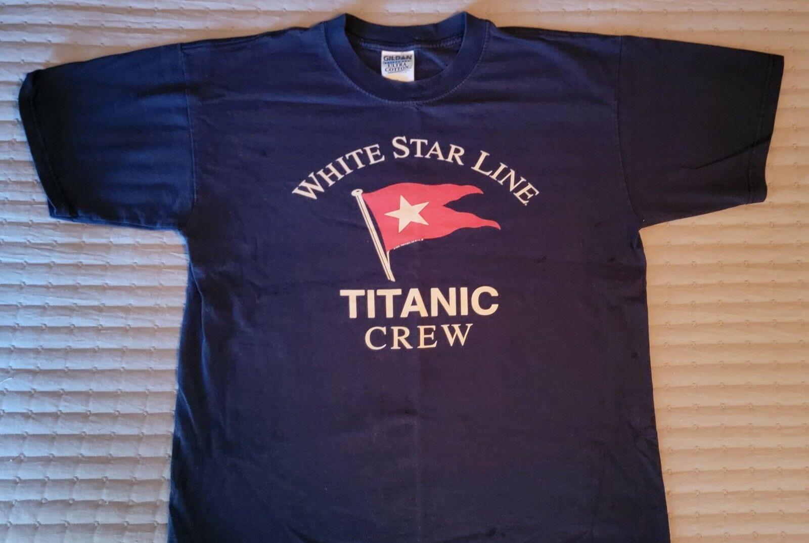 1996 RMS Titanic Crew Tshirt Large vintage