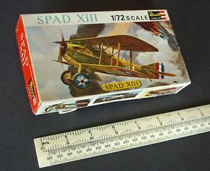Spad-XIII-French-USA-WW1-Fighter-Scout-Vintage-1960s-Revell-GB-1-72-Kit