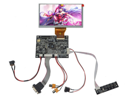Details about  /VGA AV LCD Driver Board With 6.5inch 800x480 AT065TN14 LCD Screen Touch Panel