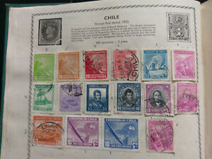 16-1920-1930s-CHILE-STAMPS