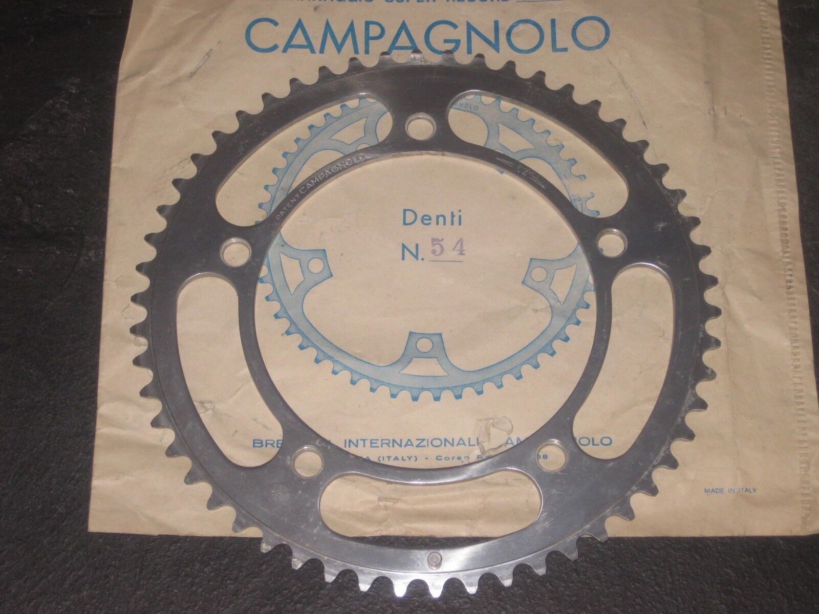 NEW NOS Vintage Campagnolo  Nuovo Record Chainring 54 tooth 151 BCD 88.8mm Eroica  new style