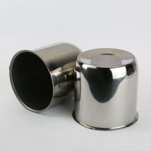 """6 Chrome Steel Push Thru Center Caps For Trailer wheel rims 4.25/"""" Center Bore"""