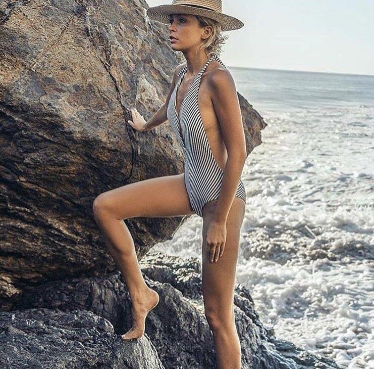 Peixoto Women`s Swimwear St Kitts Regatta Stripes One Piece Swimsuit 1-PC NWT