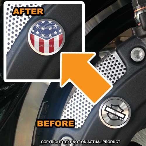 USA FLAG SLANT Brembo Front Brake Caliper Insert Set For Harley 127