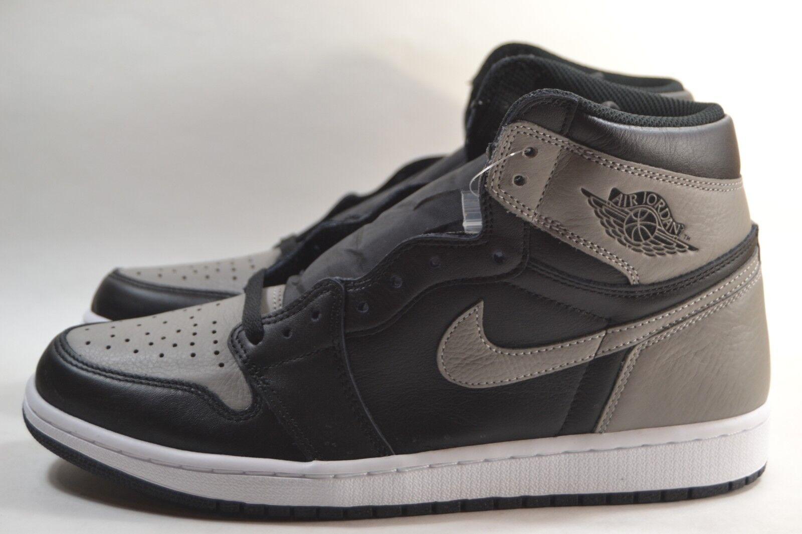 New Nike Air Jordan 1 Retro High OG  Shadow Grey Black White 555088-013
