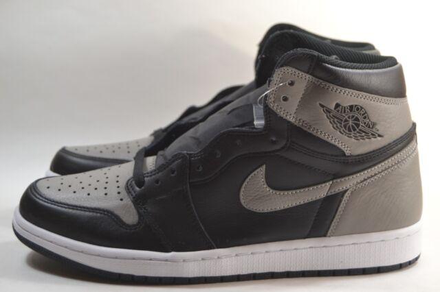 New Nike Air Jordan 1 Retro High OG Shadow Grey Black White 555088 013