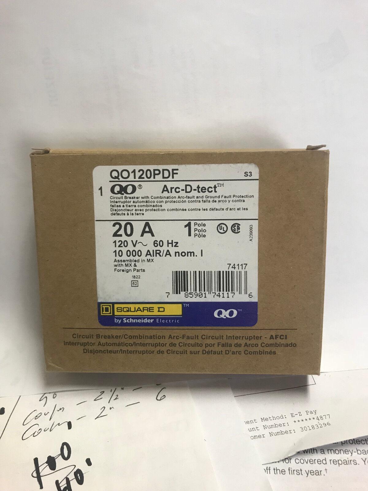 Square D Homeline HOM120CAFI 20-Amp 120-Volt Arc Fault Circuit Breaker |  eBay