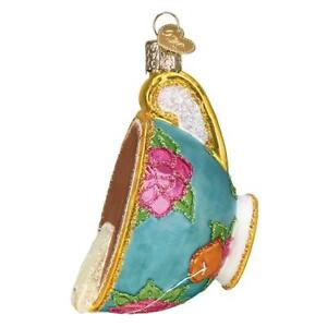 034-Cup-of-Tea-034-32393-X-Old-World-Christmas-Glass-Ornament-w-OWC-Box