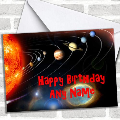 The Solar System Birthday Customised Card
