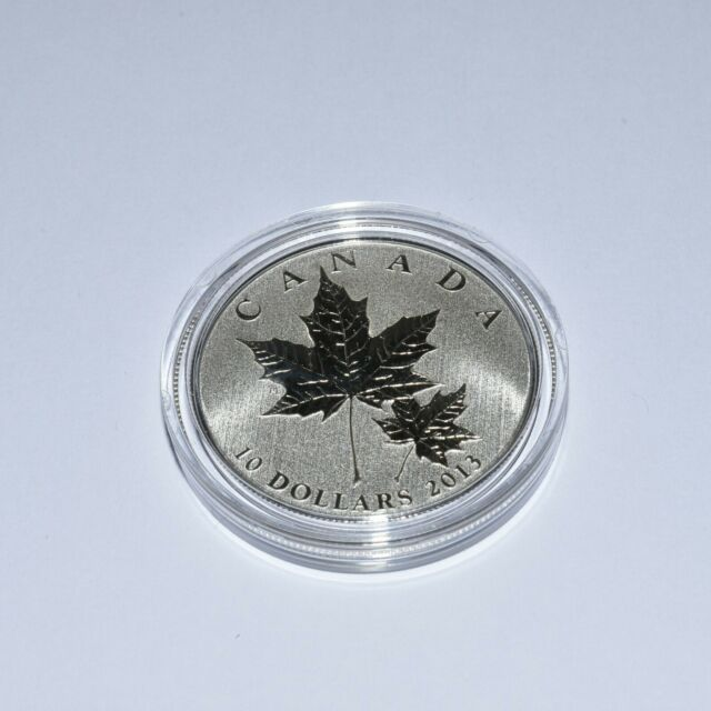 2013 $10 MAPLE LEAF - PURE SILVER COIN