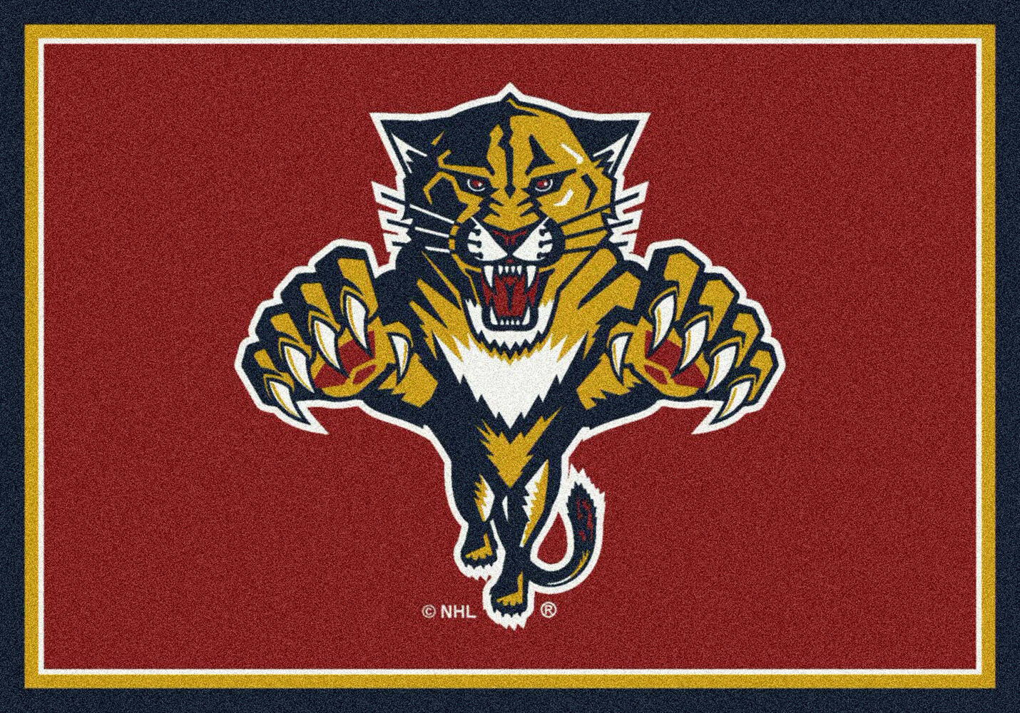 4x6 Milliken Florida Panthers Sports NHL Spirit Area Rug - Approx 3'10 x5'4