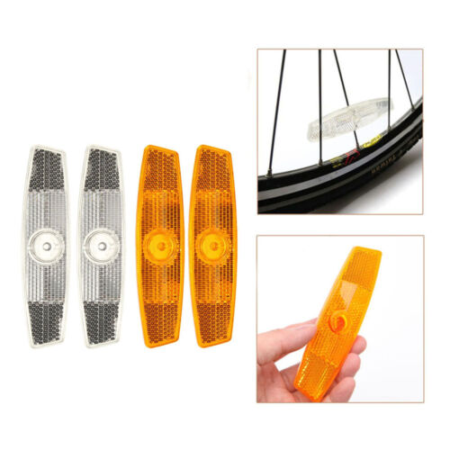 2Pcs Mount Clip Warning Reflector Bike Spoke Reflective Sheet Bicycle Wheel