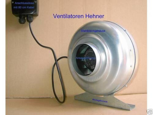 Rohrventilator externes Gebläse 250 mm 1100 m³//h
