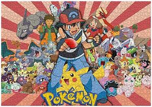 Pikachu Pokemon Jigsaw Puzzle Brain Teasers Friends Hobbies Pokémon 1000 pieces