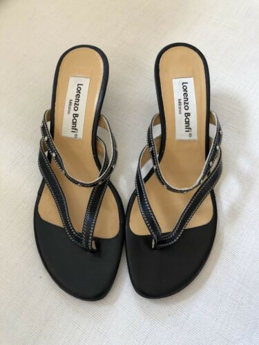 Sandals Black Worn Lorenzo New Brand Banfi never Shoemaker By Italian wqH6cgxp