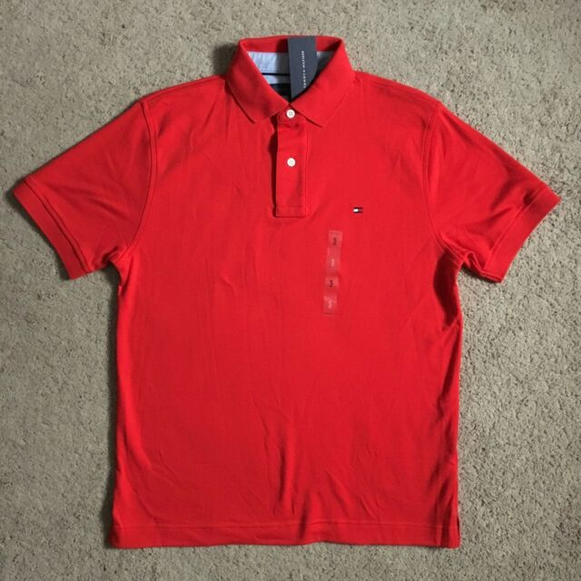 74ae8730 TOMMY HILFIGER Mens High Risk Red Polo Shirt 78A5648 642 (Small) NWT $49.50