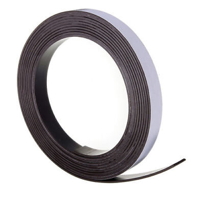 Self Adhesive Magnetic Tape Sticky Backed Magnet Strip 2m x 12.7mm Strong