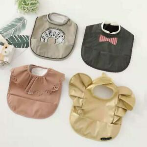 Waterproof Baby Bib for Baby Girl - Better Than Silicone Wipe Clean and Washable