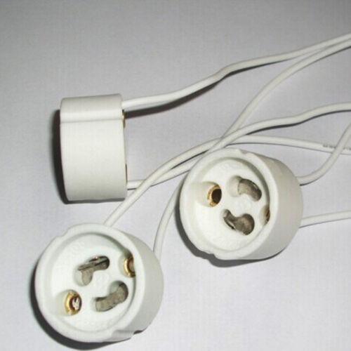 2//5//10 Stück GU10 Sockel Lampenfassung Sockel Keramik Draht-Verbinder F0X2
