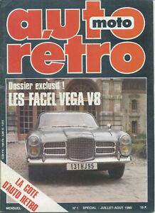 AUTO RETRO n°1 07/1980 FACEL VEGA 8
