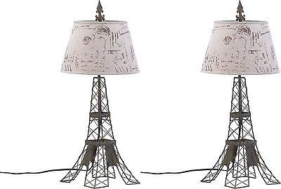 Set Of Two (2) ** 27½u201d PARISIAN EIFFEL TOWER SCULPTURED TABLE LAMPS ** **  NIB 849179011376 | EBay