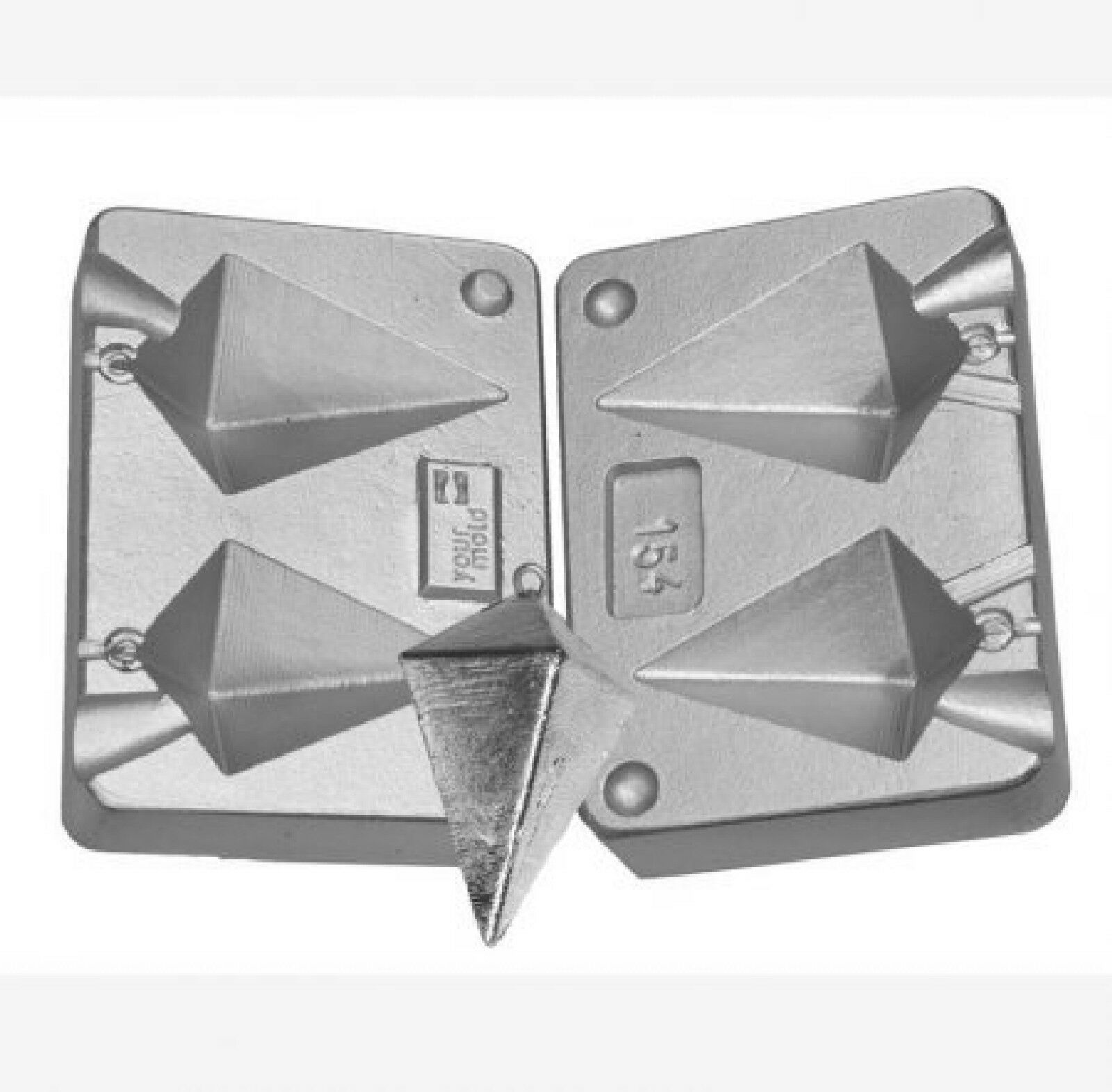 Pyramid Weight Mould for  sea fishing,  Aluminium twin mould 130-180gram  good reputation