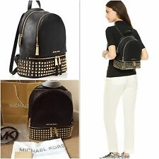 Genuine Michael Kors Medium Rhea Studded Black Backpack Rrp £390