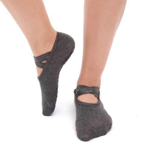 Yoga Socks Women Non Slip Skid Grips Pilates Fitness Exercise Gym Massage HZ
