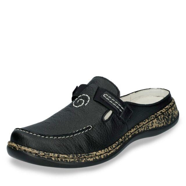 Rieker 46393 00 Schuhe Damen Pantoletten Clogs Sabot