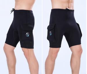 Men 3mm Neoprene Dive Shorts  Free Dive Jump Swim Scuba Snorkeling Diving Shorts  discount store