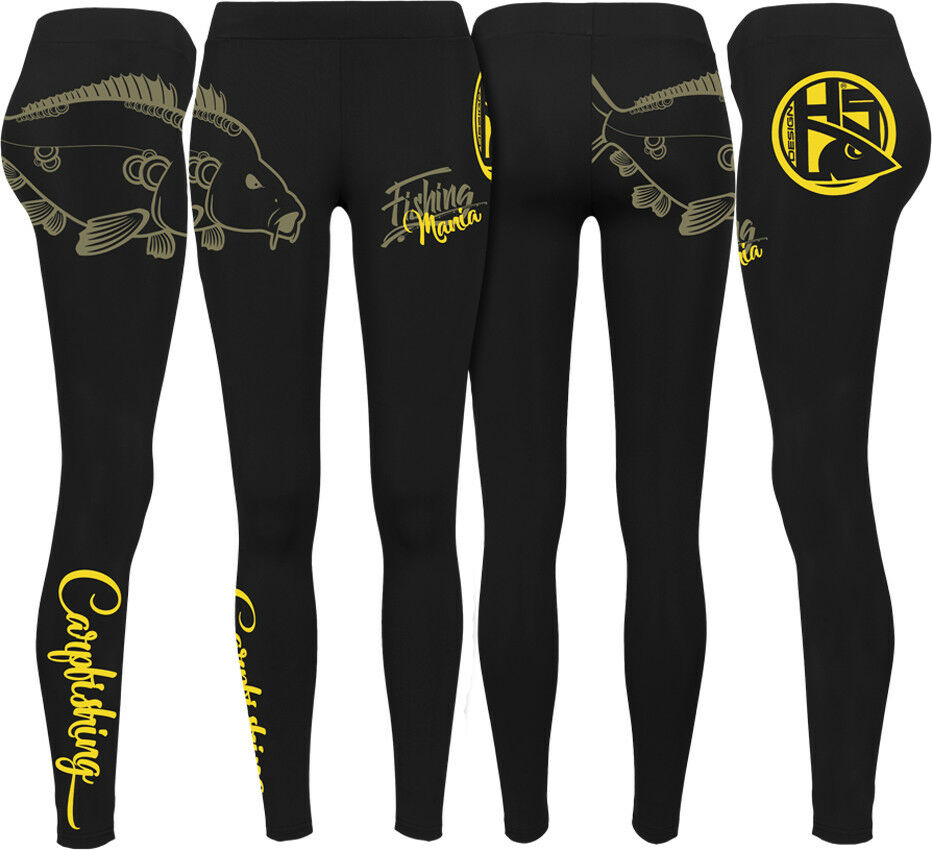 Hotspot Design Leggings Carpfishing Mania - Fishing Fishing Fishing Mania, schwarz gelb  | Shopping Online  6ab53d