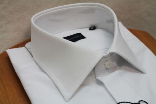 Camicia uomo Bagariny sartoriale bianco fil fil regular