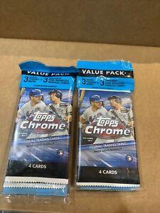 2020-MLB-Topps-Chrome-Baseball-Cello-Value-Pack-Sealed-Lot-Of-2-In-Hand