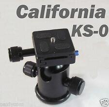 Professional Camera KS-0 Tripod Ballhead with Quick Release Plate Ball Head KS0