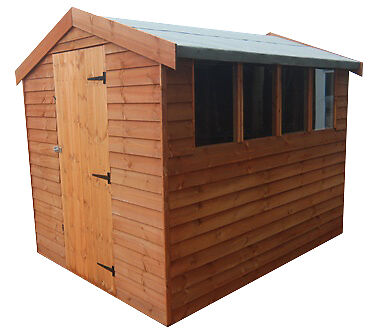 12 x 8 Weatherboard Apex or Pent Overlap Garden Shed Wooden FREE ASSEMBLY!