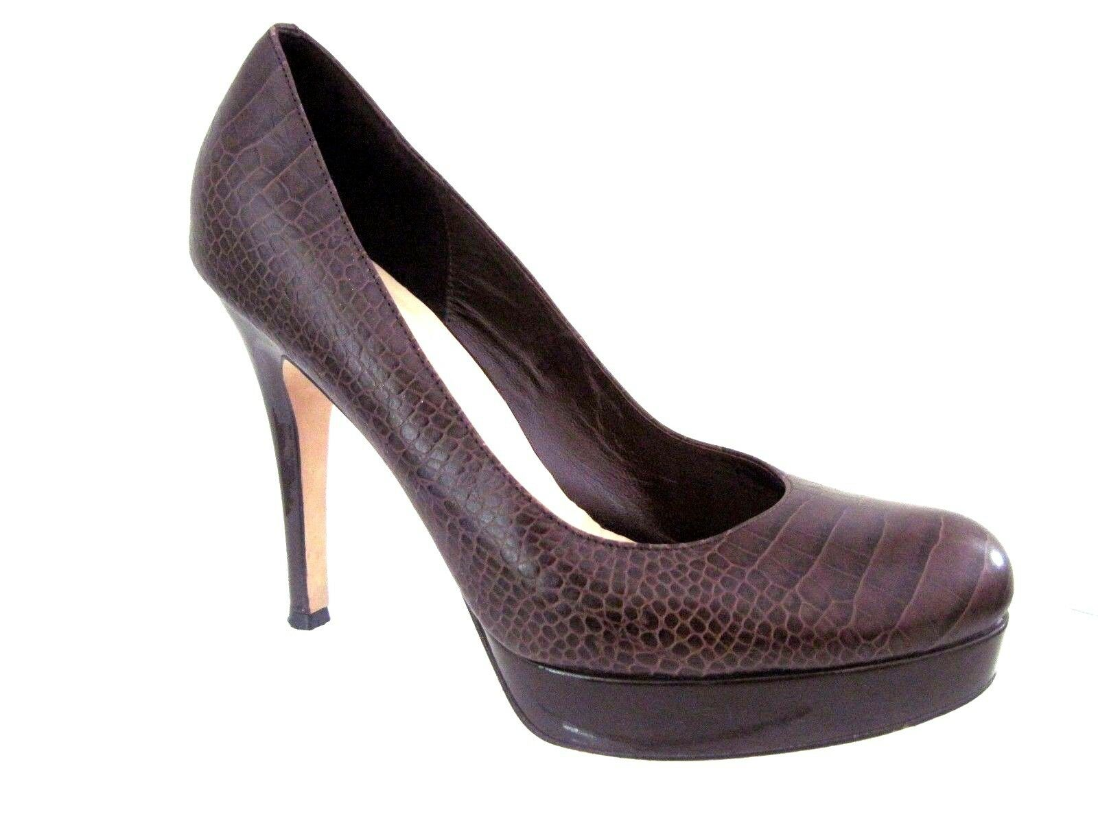 COLE HAAN Nike Air Chestnut Croc Print Leather MARIELA Platform Pump Pump Platform Size 9 1/2 b5dde1