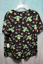 Unisex shirts chef Black shirt vneck kitchen scrub small large xl 3x 4x NEW