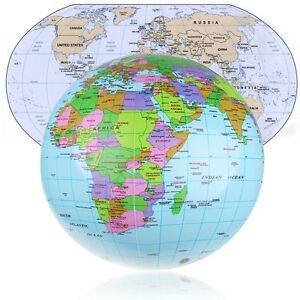 image is loading 36cm inflatable earth world globe map beach ball