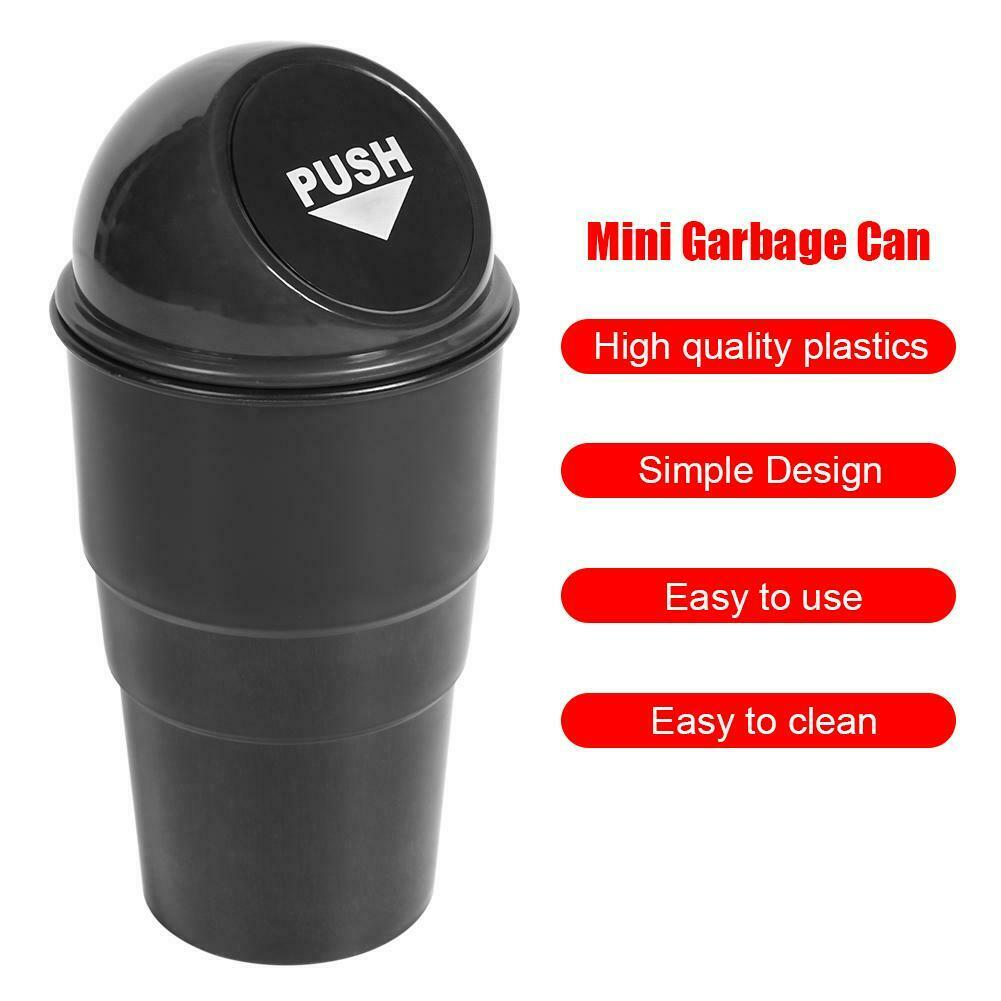 Car Trash Can and Garbage Bag Set Black + Red Office Accmor Vehicle Cup Holder Trash Bin Auto Dustbin Garbage Organizer Storage Home 2 Pack Mini Garbage Bin Container for Cars