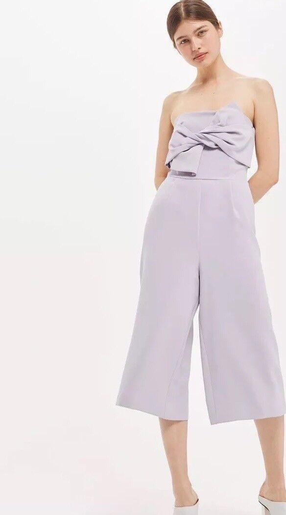 Topshop Petite Jumpsuit US 6 purplec NWT