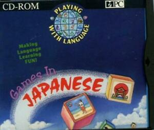 Details about Playing With Language: Games In Japanese PC CD learning  colors shapes sizes face