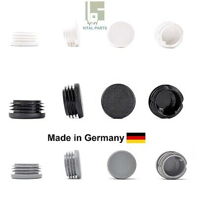12mm Round Plastic End Caps Blanking Plugs Tube Pipe Inserts