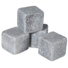 4 Stück Kühlsteine Kältesteine Steine im Samtbeutel Whiskey Whisky Stones Rocks